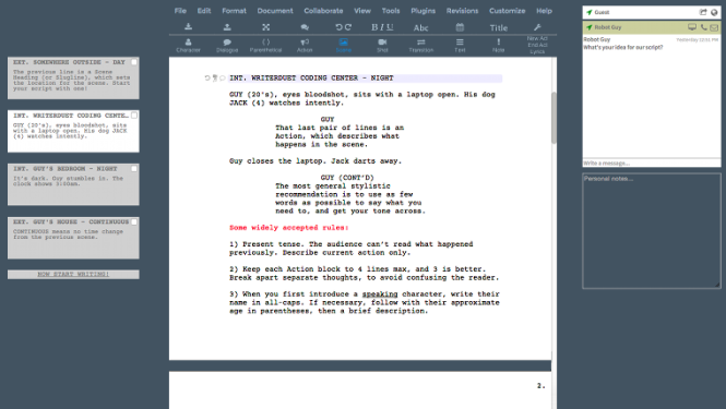the best screenwriting software ever.